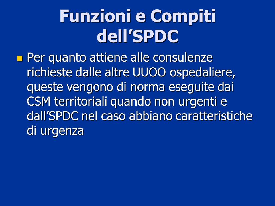 Funzioni e Compiti dell'SPDC