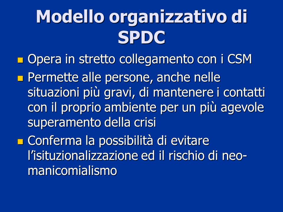 Modello organizzativo di SPDC
