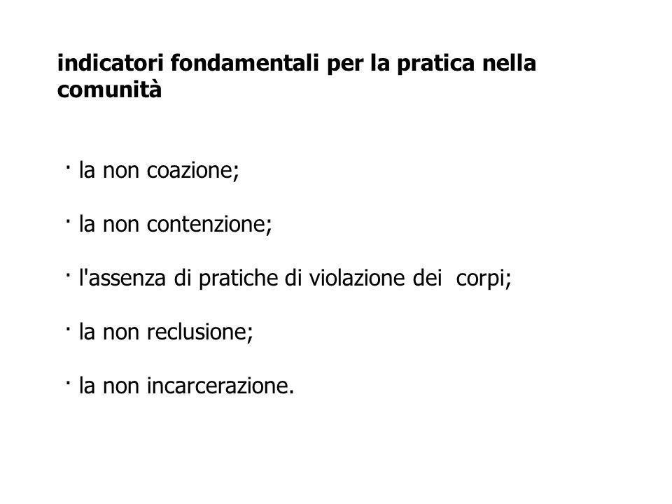 indicatori fondamentali per la pratica nella comunità