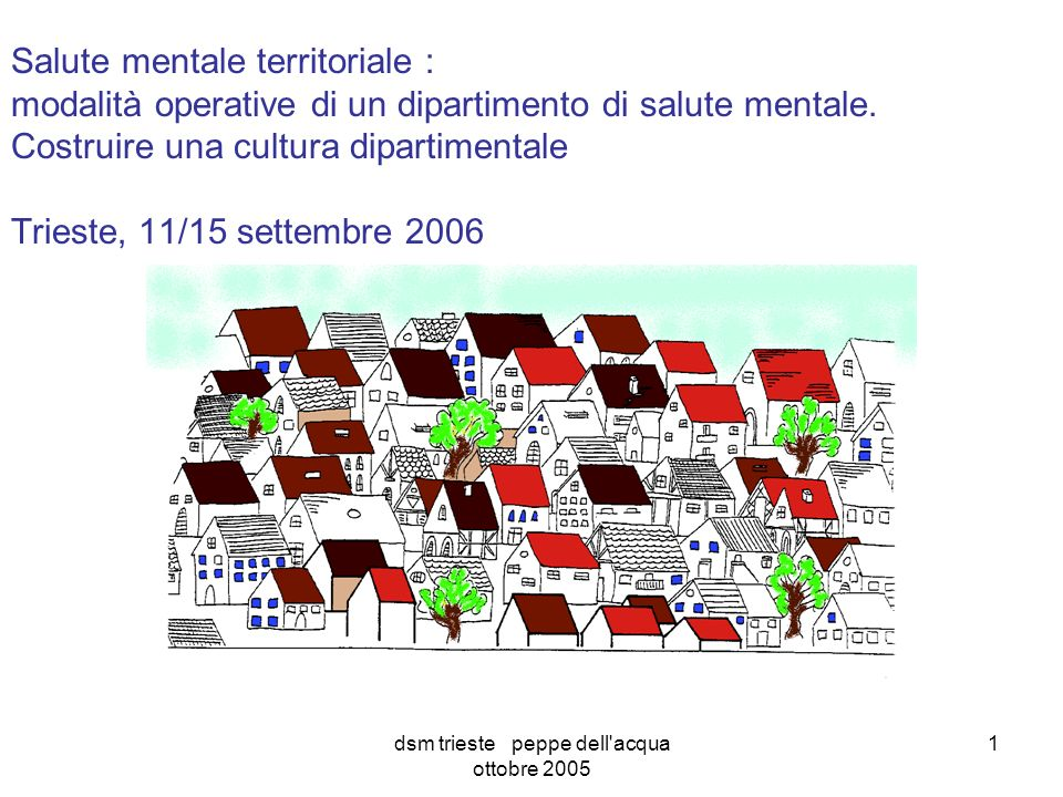 dsm trieste peppe dell acqua ottobre 2005