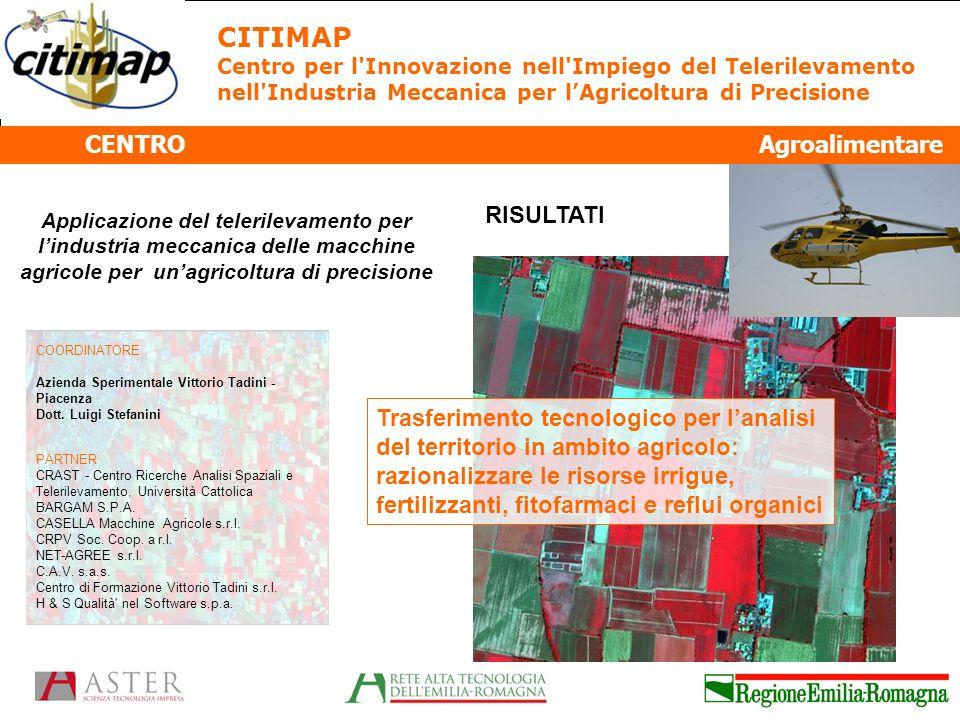 CITIMAP CENTRO Agroalimentare RISULTATI