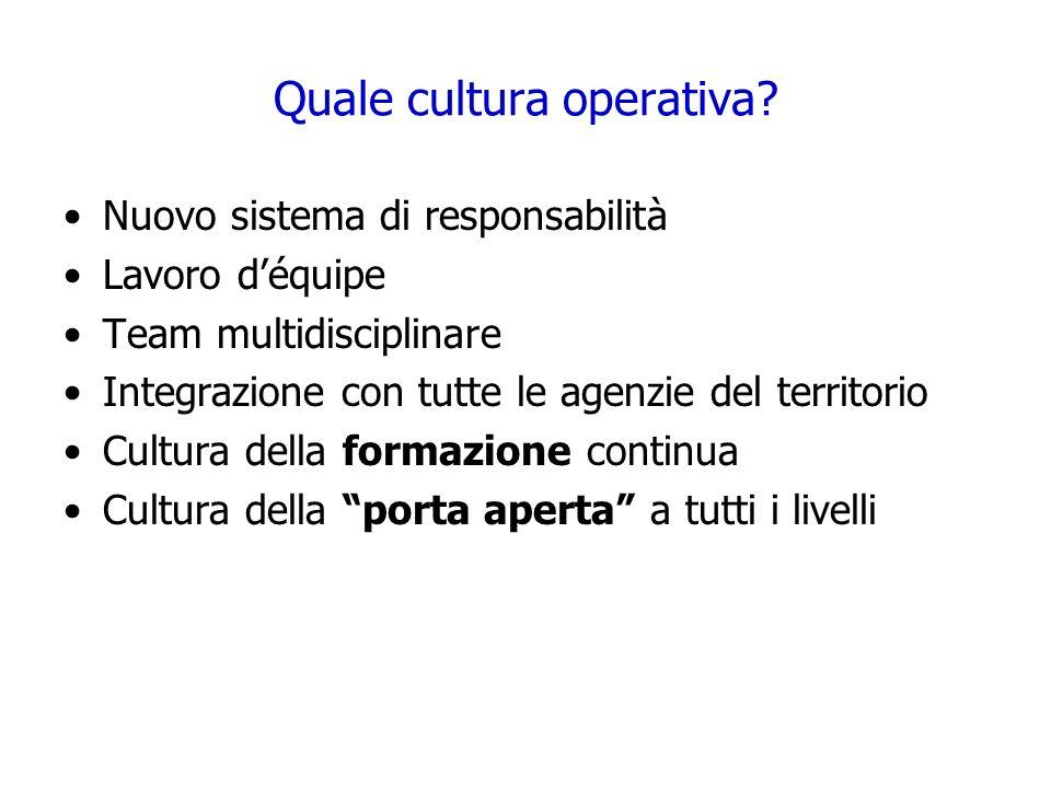 Quale cultura operativa