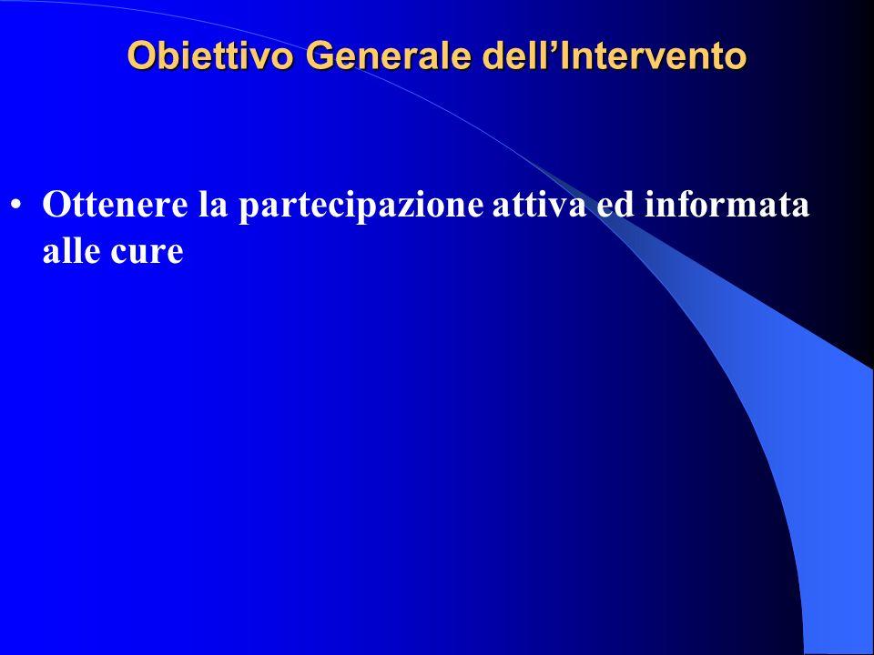Obiettivo Generale dell'Intervento