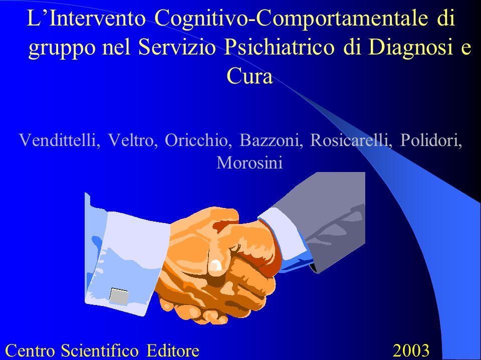 L'Intervento Cognitivo-Comportamentale di gruppo nel Servizio Psichiatrico di Diagnosi e Cura