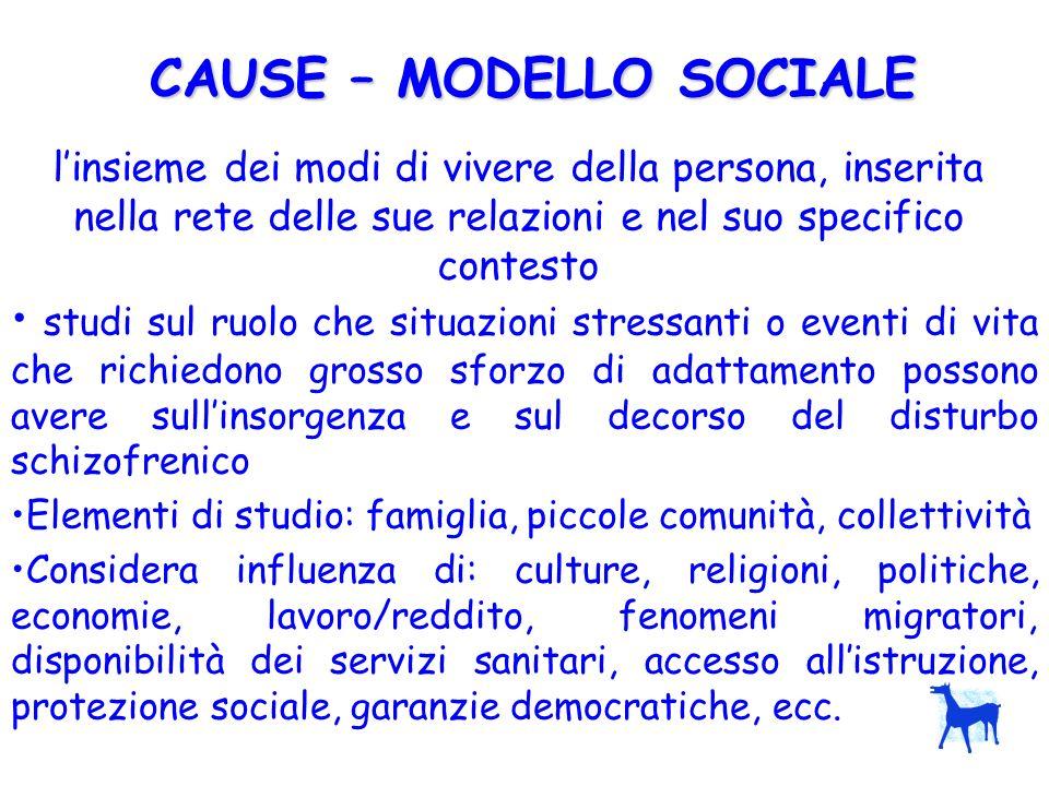 CAUSE – MODELLO SOCIALE
