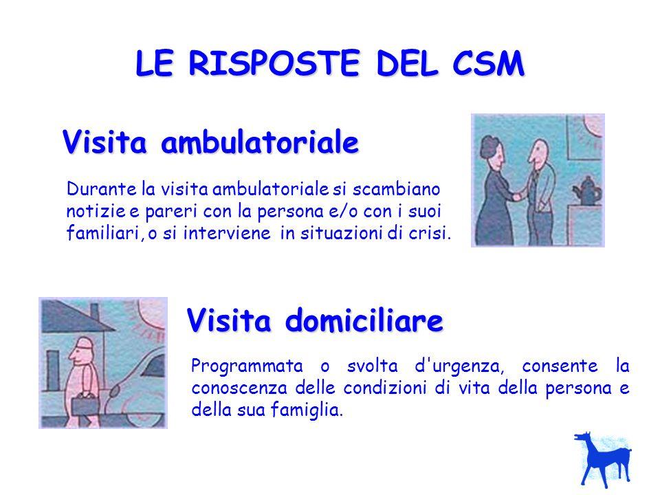 LE RISPOSTE DEL CSM Visita ambulatoriale Visita domiciliare
