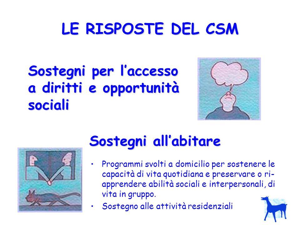Sostegni per l'accesso a diritti e opportunità sociali