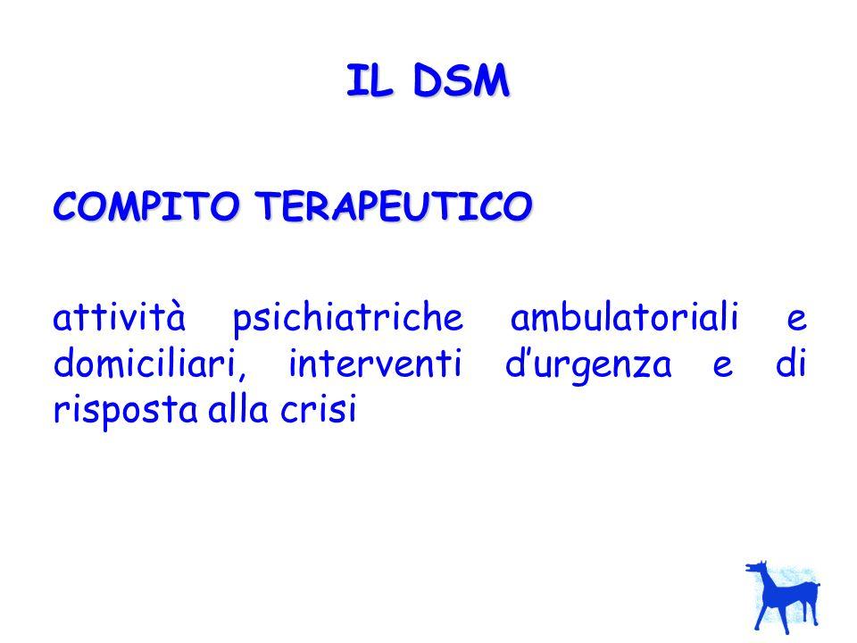 IL DSM COMPITO TERAPEUTICO