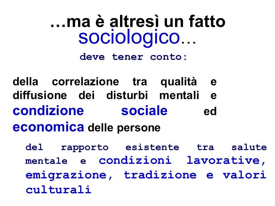 …ma è altresì un fatto sociologico…