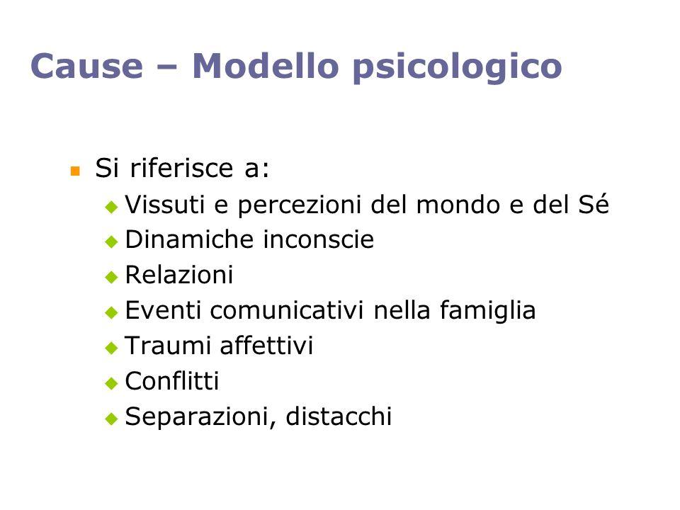 Cause – Modello psicologico