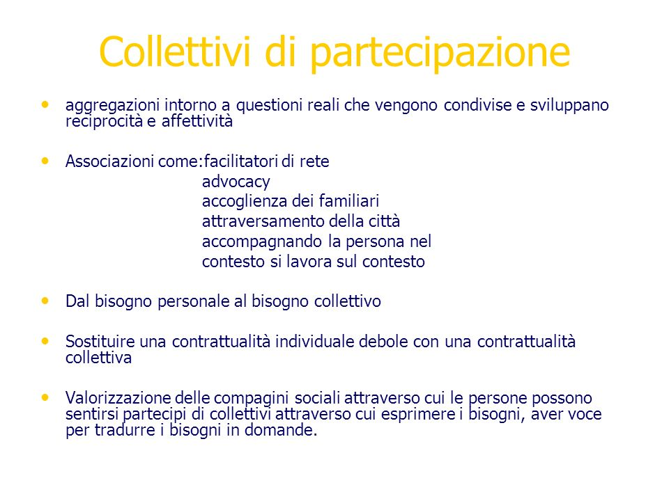 Collettivi di partecipazione