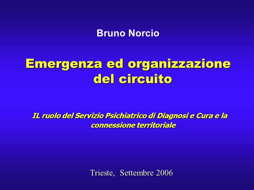 Emergenza ed organizzazione del circuito