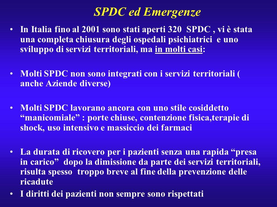 SPDC ed Emergenze