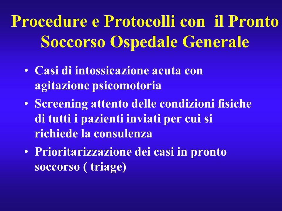 Procedure e Protocolli con il Pronto Soccorso Ospedale Generale