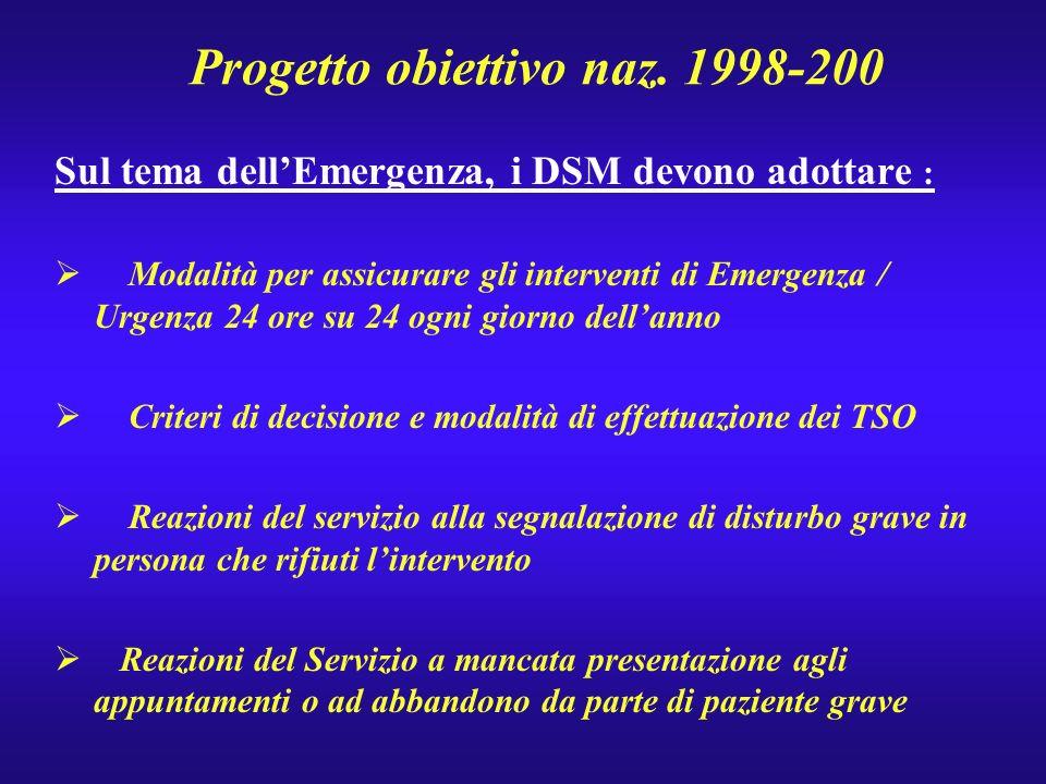 Progetto obiettivo naz. 1998-200