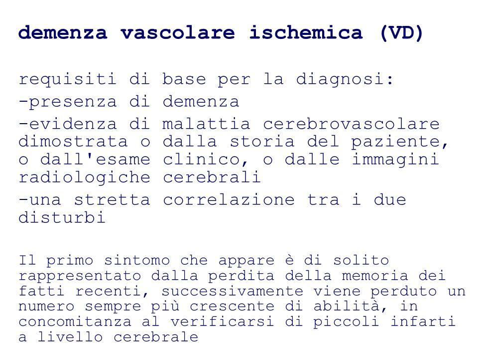 demenza vascolare ischemica (VD)