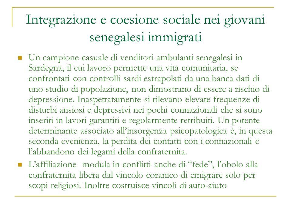 Integrazione e coesione sociale nei giovani senegalesi immigrati