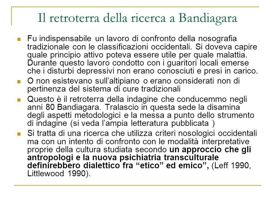 Il retroterra della ricerca a Bandiagara