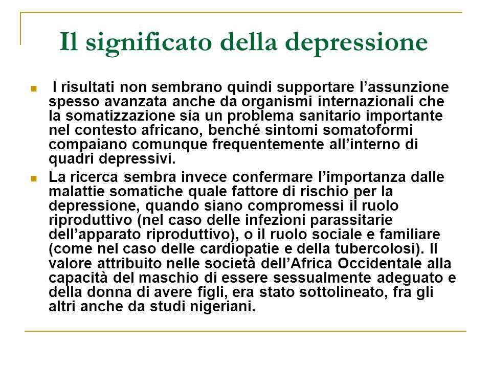 Il significato della depressione