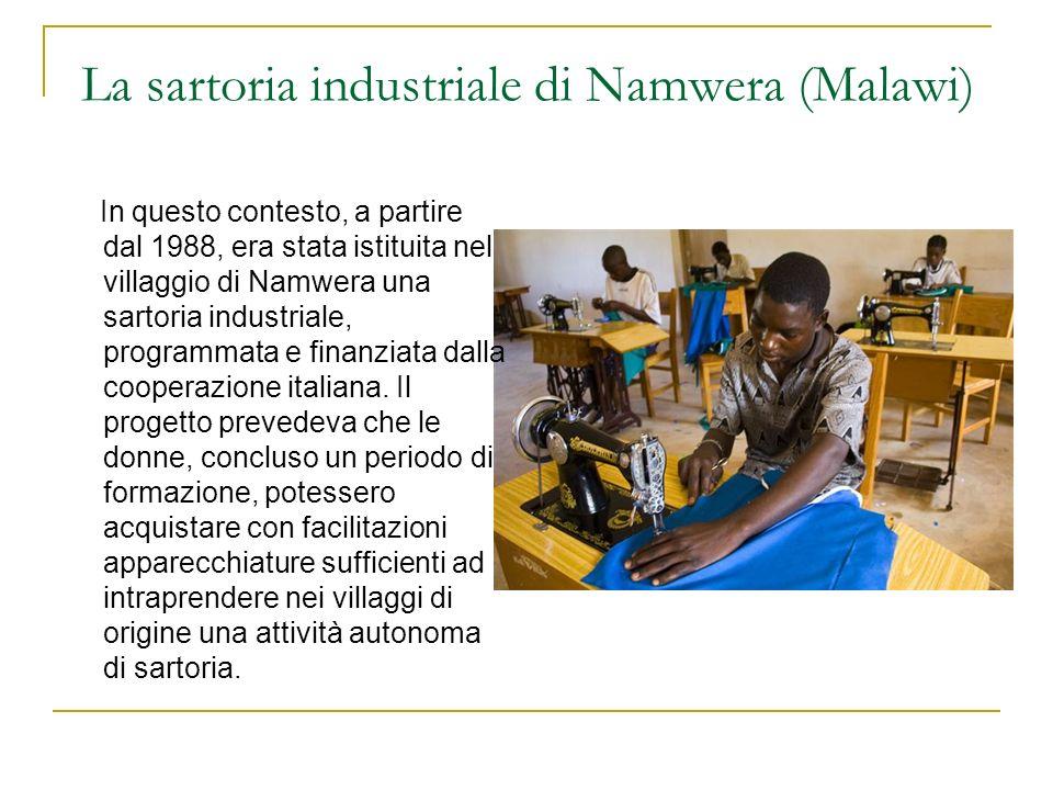La sartoria industriale di Namwera (Malawi)