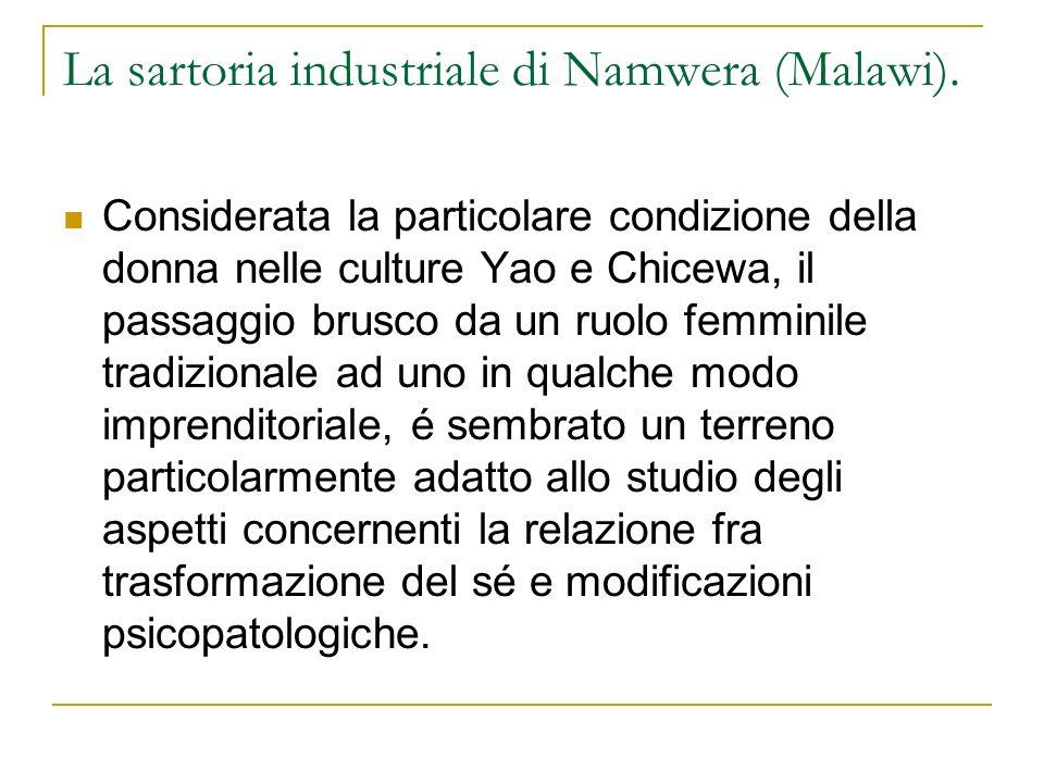 La sartoria industriale di Namwera (Malawi).