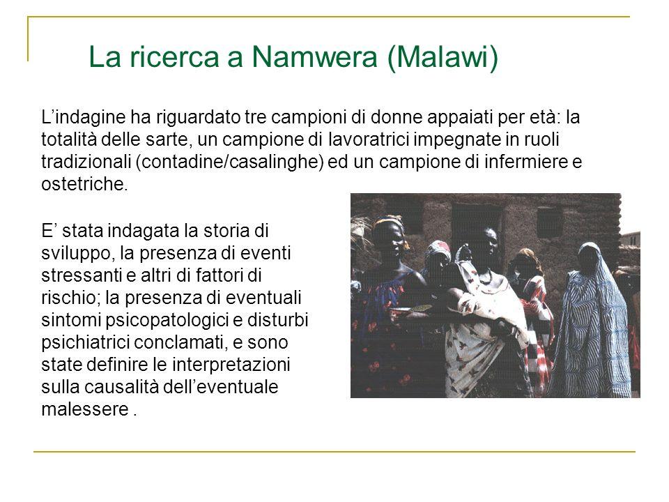 La ricerca a Namwera (Malawi)