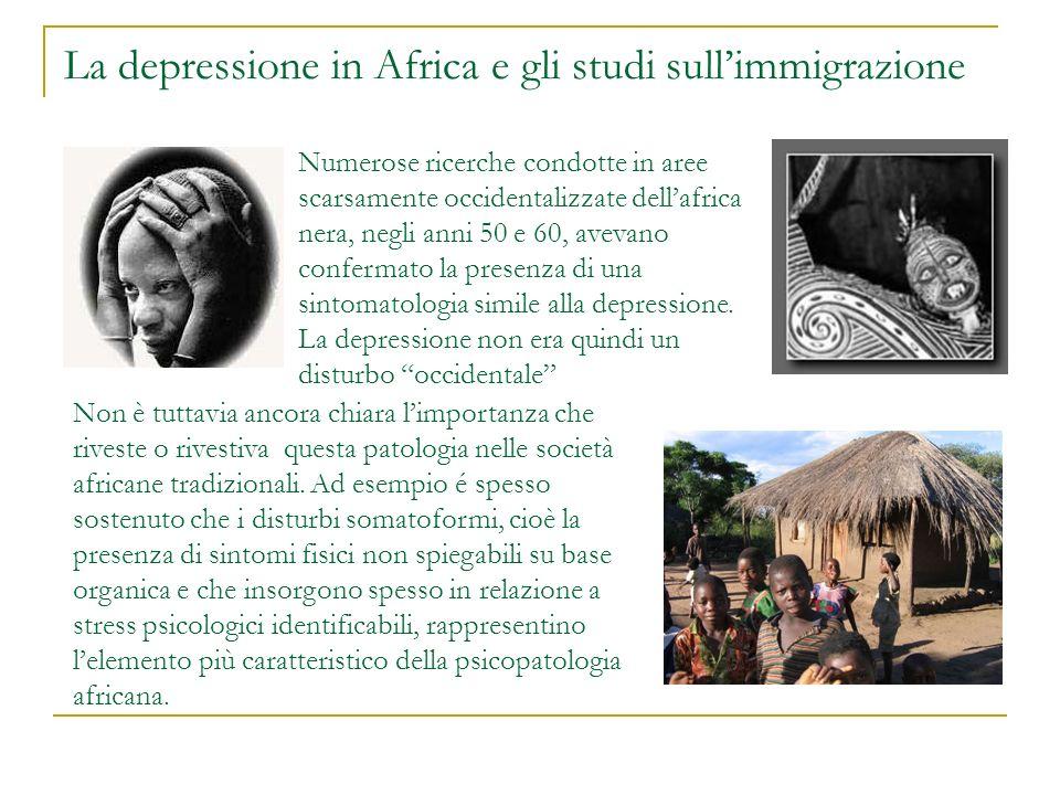 La depressione in Africa e gli studi sull'immigrazione