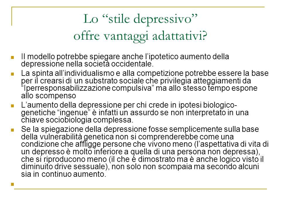 Lo stile depressivo offre vantaggi adattativi