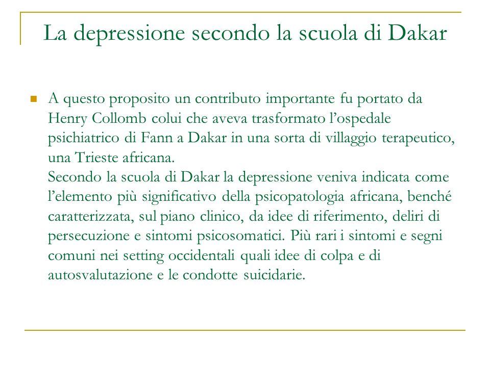 La depressione secondo la scuola di Dakar