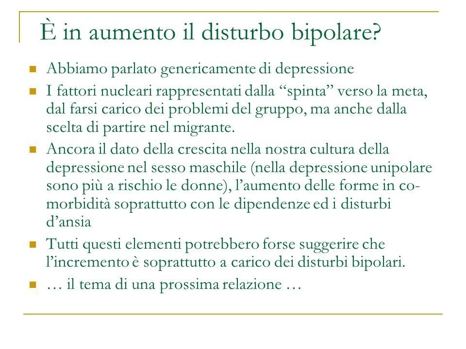 È in aumento il disturbo bipolare