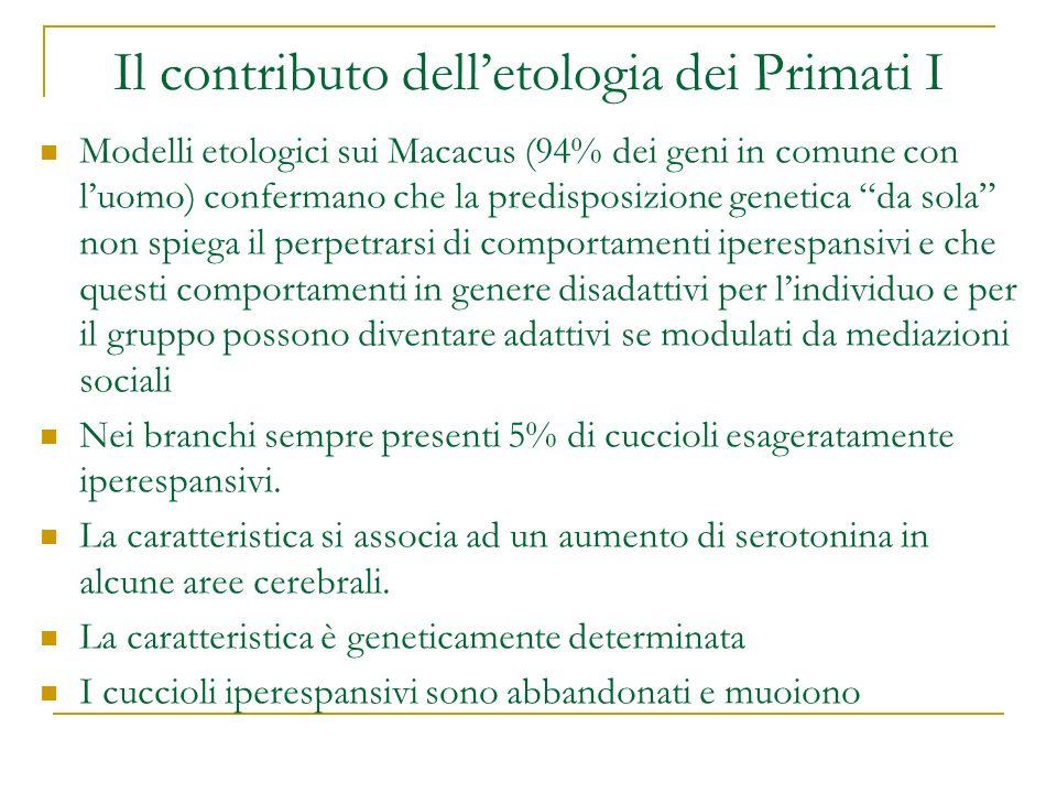 Il contributo dell'etologia dei Primati I