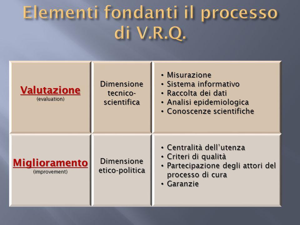 Elementi fondanti il processo di V.R.Q.