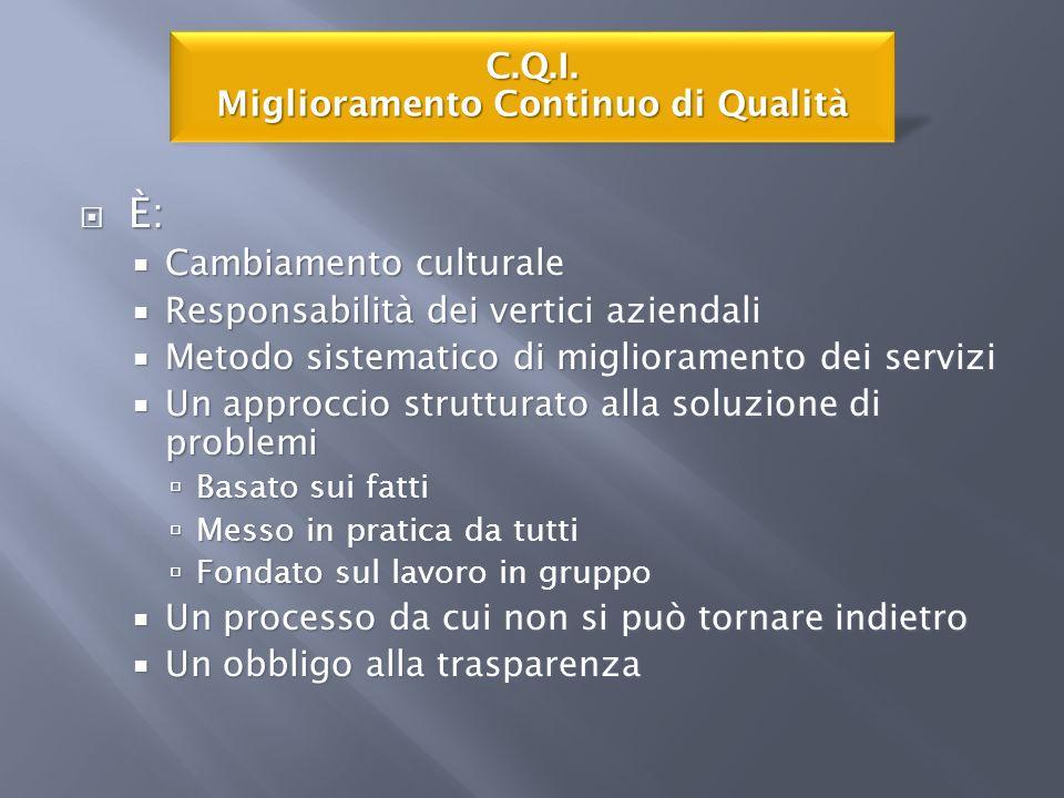 C.Q.I. Miglioramento Continuo di Qualità