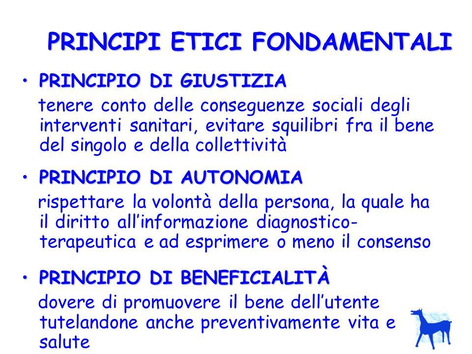 PRINCIPI ETICI FONDAMENTALI