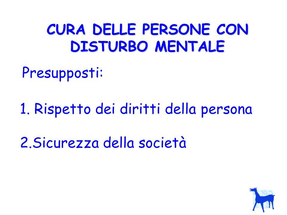CURA DELLE PERSONE CON DISTURBO MENTALE