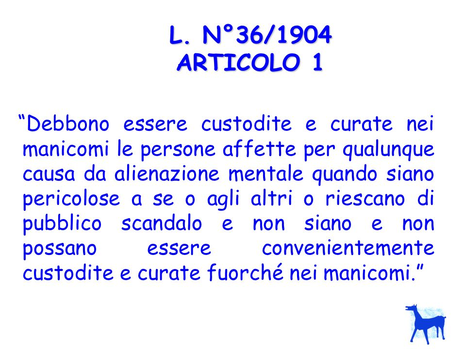 L. N°36/1904 ARTICOLO 1