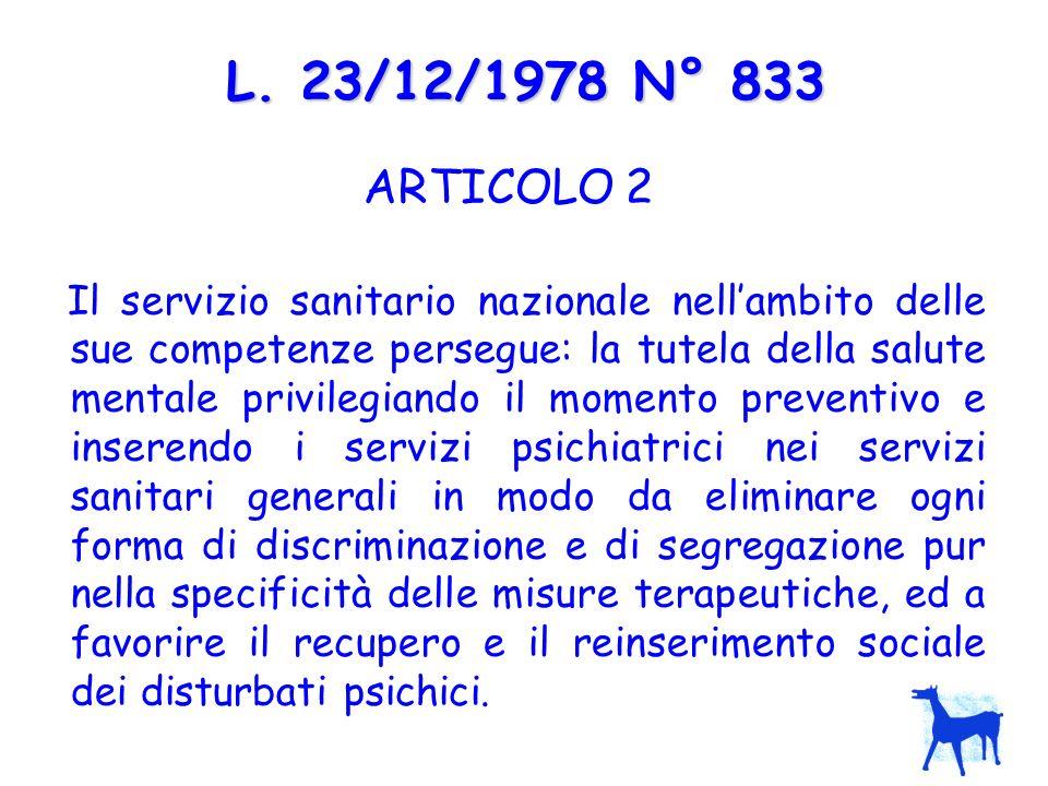L. 23/12/1978 N° 833 ARTICOLO 2.
