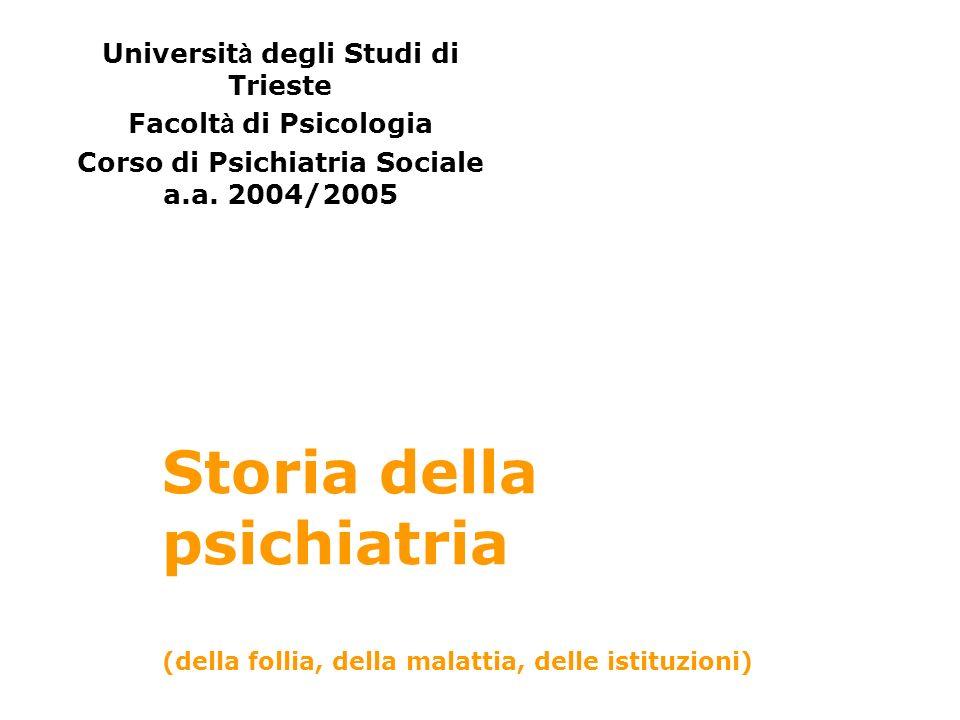 Corso di Psichiatria Sociale a.a. 2004/2005