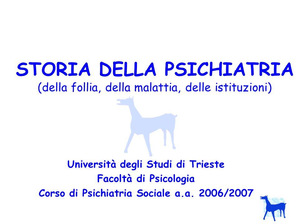 Corso di Psichiatria Sociale a.a. 2006/2007