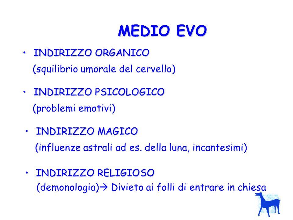 MEDIO EVO (squilibrio umorale del cervello) (problemi emotivi)