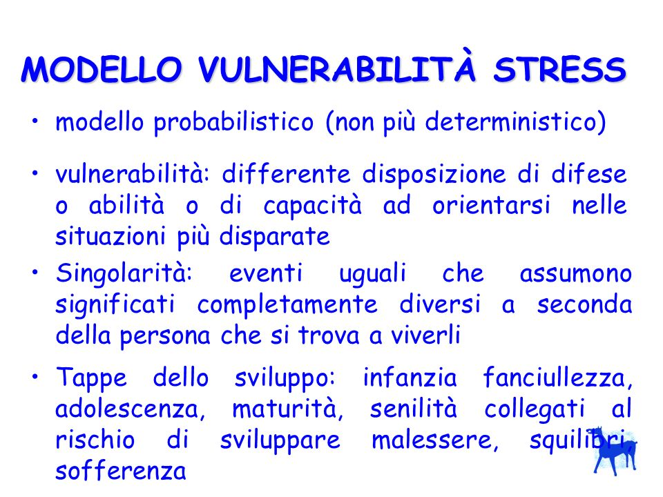 MODELLO VULNERABILITÀ STRESS