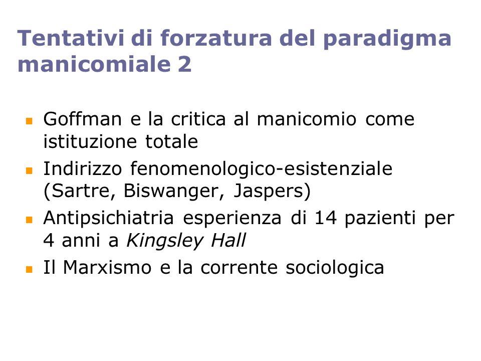 Tentativi di forzatura del paradigma manicomiale 2