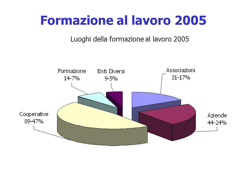 Luoghi della formazione al lavoro 2005