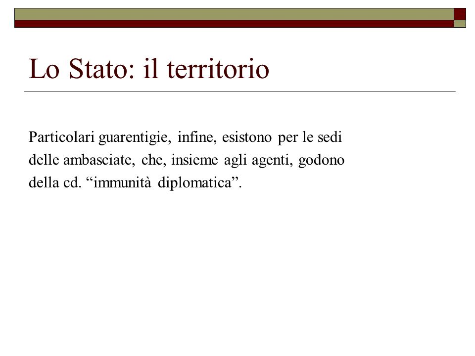 Lo Stato: il territorio