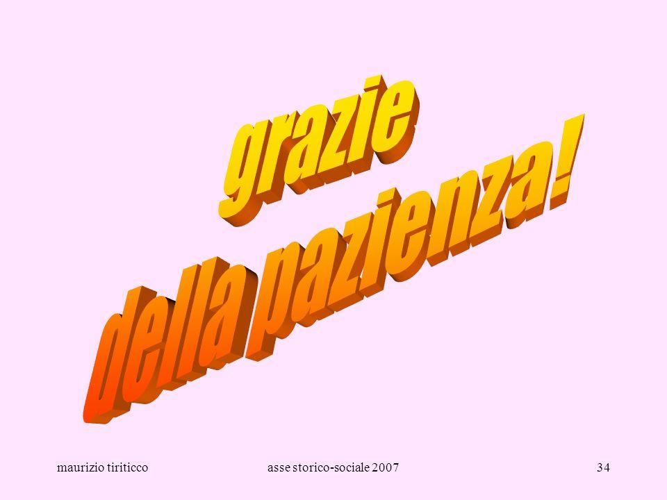 grazie della pazienza! maurizio tiriticco asse storico-sociale 2007