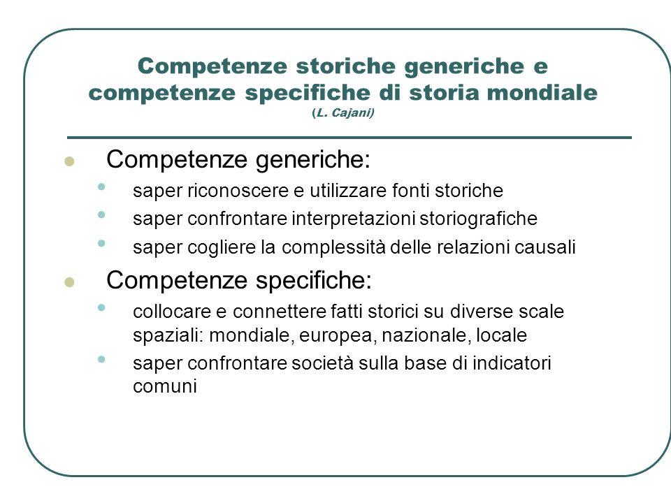 Competenze generiche: