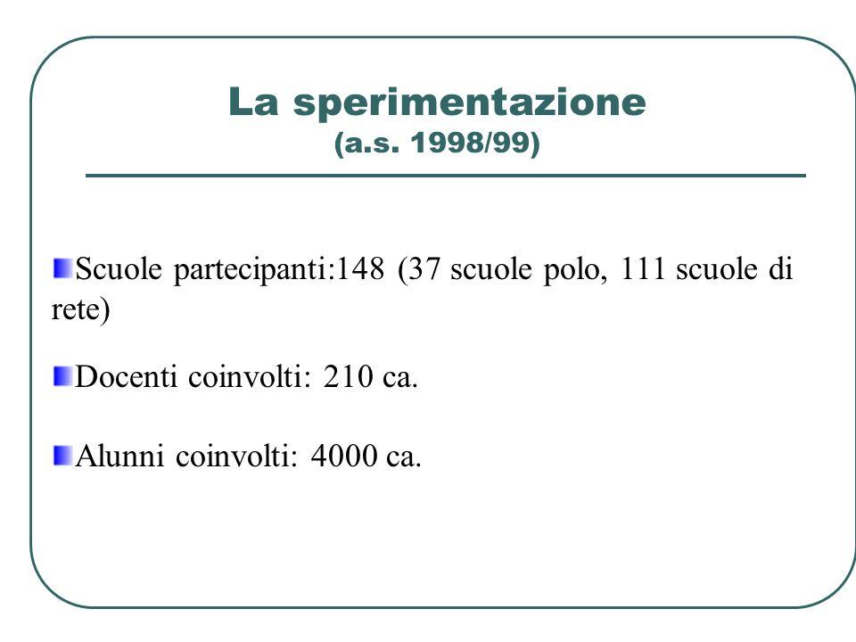 La sperimentazione (a.s. 1998/99)
