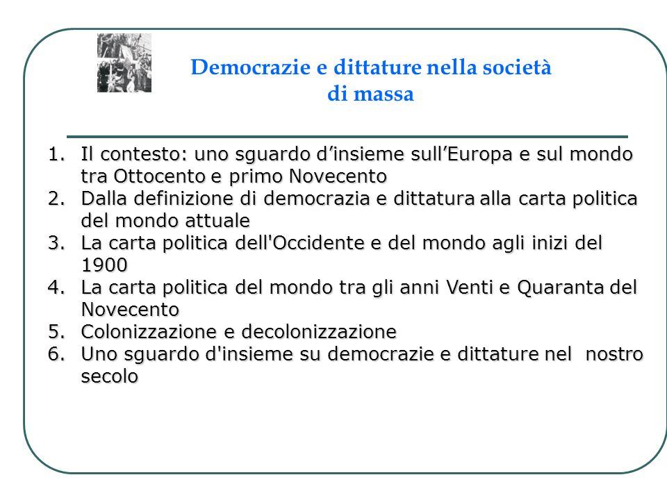 Democrazie e dittature nella società di massa
