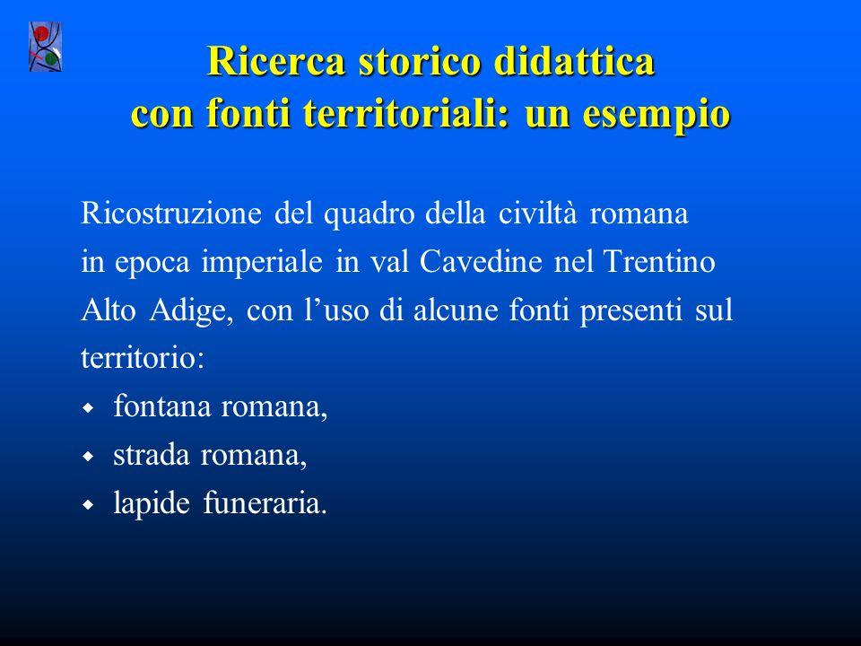 Ricerca storico didattica con fonti territoriali: un esempio