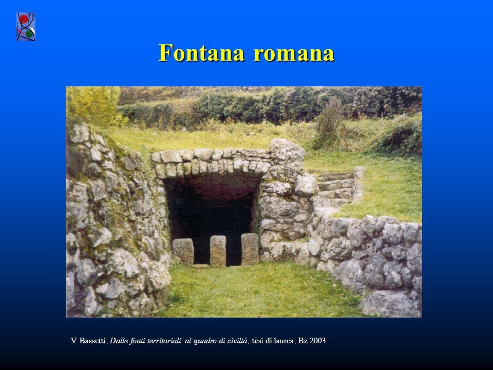 Fontana romana V. Bassetti, Dalle fonti territoriali al quadro di civiltà, tesi di laurea, Bz 2003